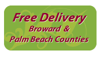 Free delivery Broward and Palm Beach